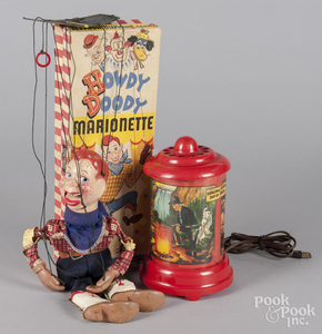 Hopalong Cassidy revolving plastic lamp