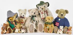 Eleven Hermann artist teddy bears