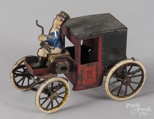 Lehmann tin clockwork motor coach