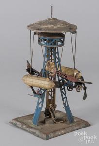 German painted tin carousel