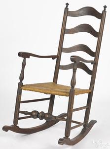 Pennsylvania four-slat ladderback rocking chair