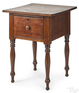 Pennsylvania Sheraton cherry one-drawer stand