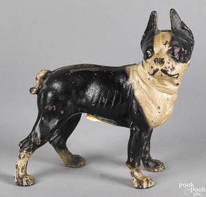 Painted cast iron Boston Terrier doorstop