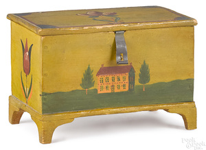 Jacob or Jonas Weber painted dresser box