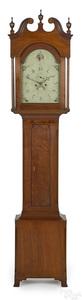 John Hoff Federal walnut tall case clock