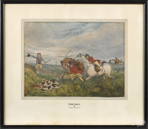 Henry Alken, two fox hunting scenes