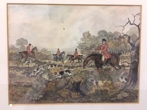 Henry Alken, three fox hunting scenes