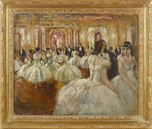 Jean Cosson, oil on canvas of ballerinas