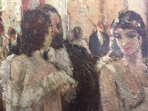 Jean Cosson, oil on canvas of ballerinas