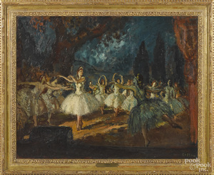 Jean Cosson, oil on canvas titled The Opera