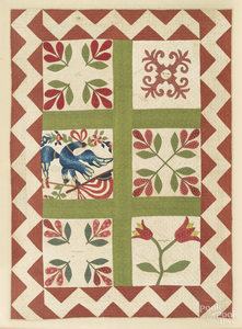 Childs appliqué album quilt