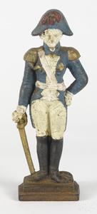 Cast iron George Washington with sword doorstop
