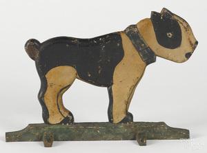 Scarce cast iron Boston Terrier wedge doorstop