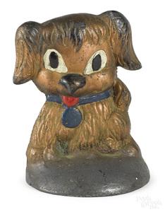 Unusual cast lead comical puppy doorstop