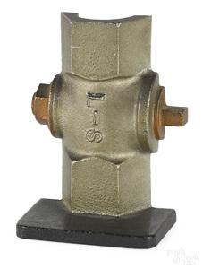 Cast iron fire hydrant doorstop