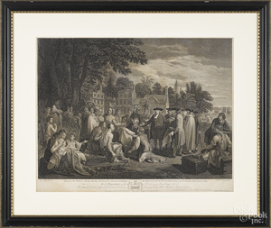 Engraving after Benjamin West, Penn's Treaty