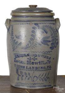 Western Pennsylvania six-gallon stoneware crock