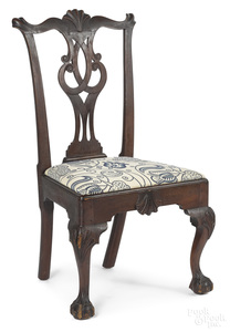 Pennsylvania Chippendale walnut dining chair
