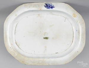 Important Historical blue Staffordshire platter