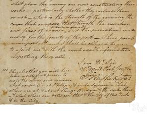 George Washington signed letter