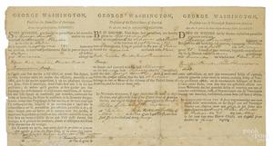 George Washington & Thomas Jefferson signed paper