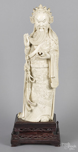 Large Chinese carved ivory immortal
