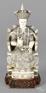 Chinese carved ivory Empress