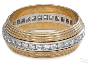 14K platinum tu-tone band