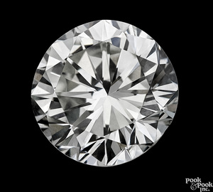 One brilliant cut round 4.44 ct unmounted diamond