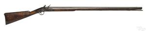 Full stock flintlock smoothbore rifle