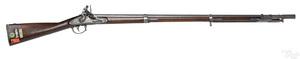 Whitney 1822 flintlock musket and bayonet