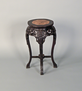 Chinese carved marble top stand, early 20th c., 2