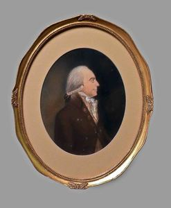 Pastel portrait of a gentleman, ca. 1800, 9 1/2