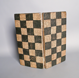 American painted hinged checkerboard, early 20th