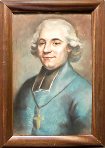 Pastel portrait of a clergyman, 19th c., 24 1/2