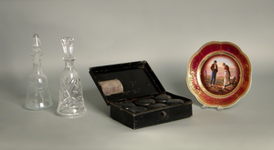 Royal Vienna porcelain plate, 9 1/2
