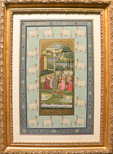Contemporary painted Hindu panel, 26