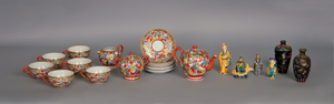 Japanese fifteen piece porcelain tea service, 20t