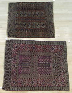 Two Turkoman carpets, early 20th c.