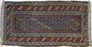 Three Hamadan carpets, early 20th c., 7' x 3'6