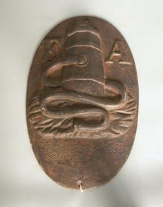 Cast iron Fireman's Association fire mark, 19th c
