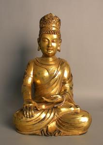 Large bronze figure of a Buddha