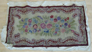 Hooked rug, early 20th c., 36