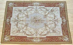 Two Aubusson carpets, 13' 8