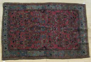 Sarouk carpet, ca. 1920, 6' 6