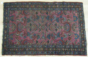 Three oriental mats, 4' 10