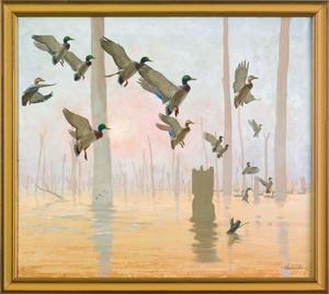Richard Evett Bishop (American, 1887-1975), oil o