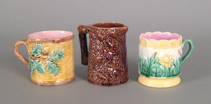 Three piece Etruscan majolica, late 19th c. to in