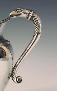 Philadelphia silver water pitcher, ca. 1820, bear