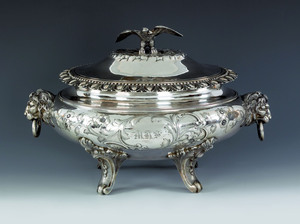Important New Orleans, Louisiana silver tureen, c